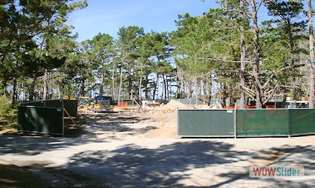 Construction Site Picture with Temp Fence Pebble Beach